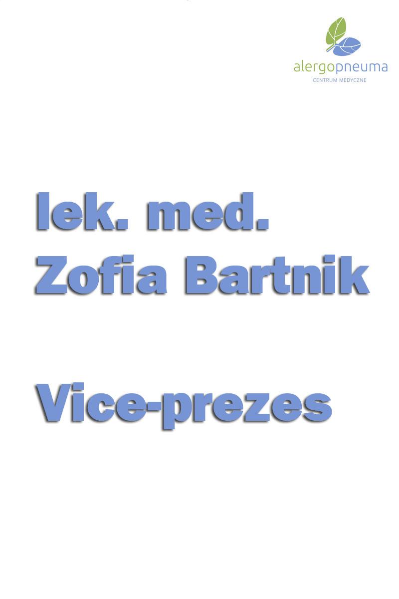 lek. med. Zofia Bartnik